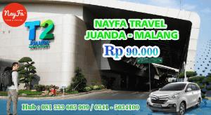 Rekomendasi Travel Juanda Malang